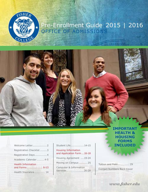 Fisher College Pre-Enrollment Guide 2015-2016