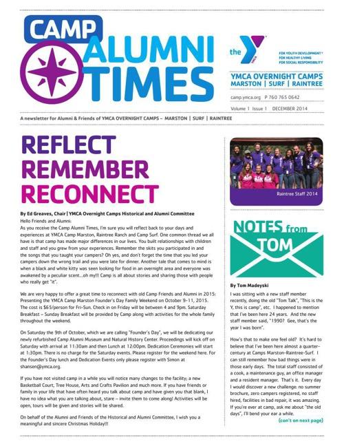 December 2014 - Camp Alumni Times