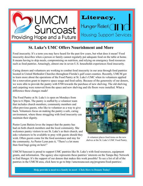 UMCM Suncoast Newsletter - August 201