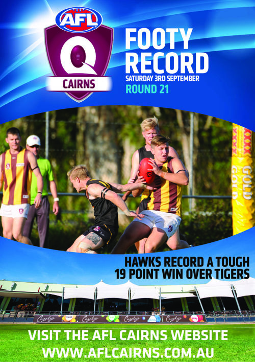 AFL Cairns Footy Record Round 21 Saturday 3rd September 2016