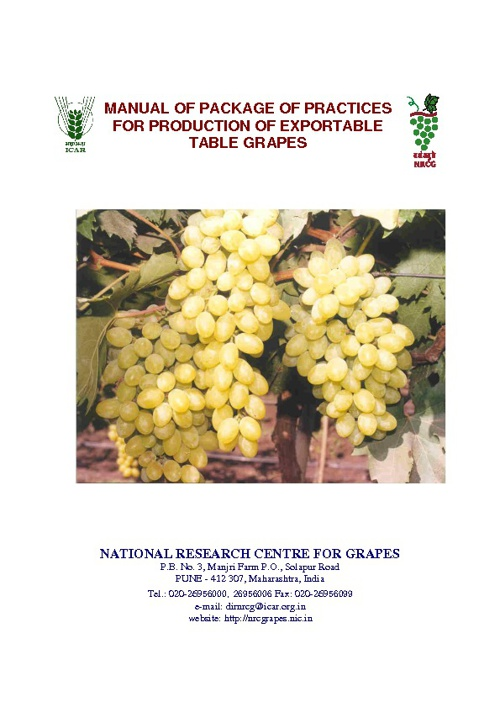 Package of Practices - Grapes for Export