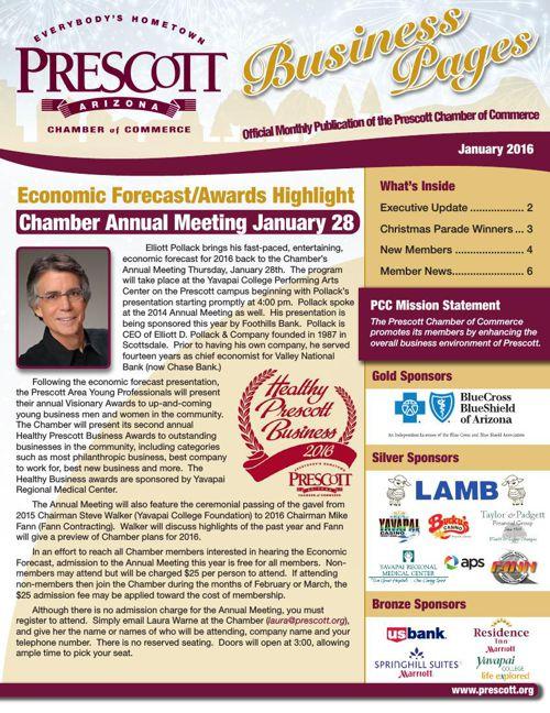 Prescott Chamber 1-16 Newsletter