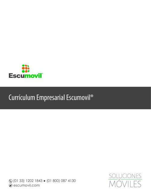 Currículum Empresarial Escumovil®