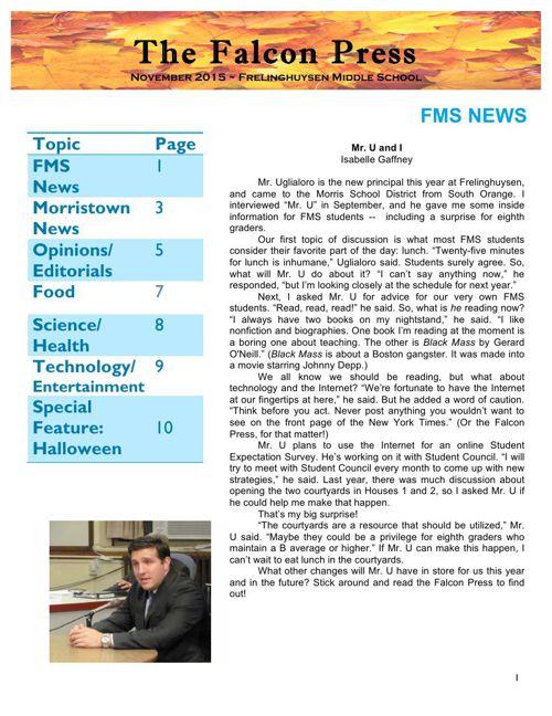 Falcon Press November 2015