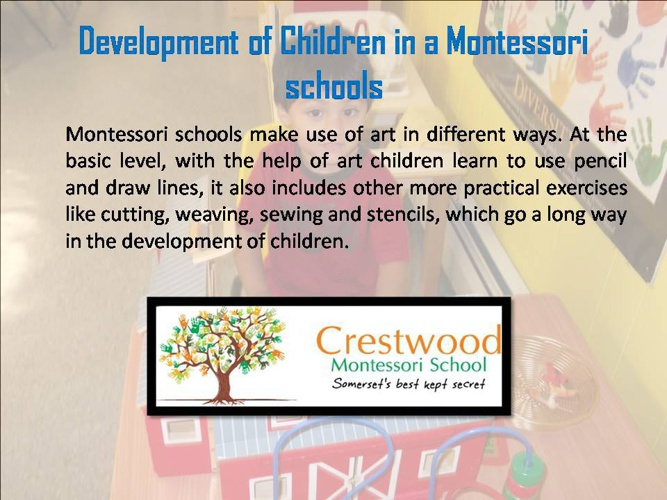 Development of Children in a Montessori schools