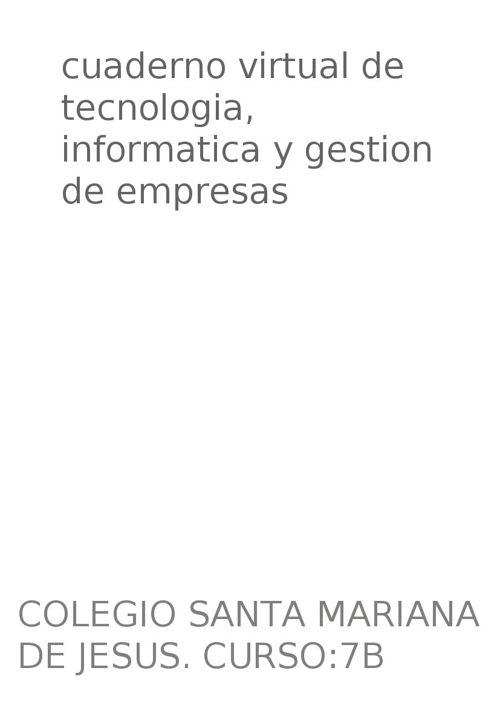 tegnologia, informatica y gestion de empresas