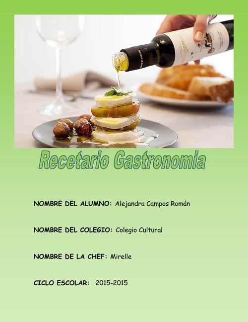 RECETARIO DE GASTRONOMIA UNIDAD 2