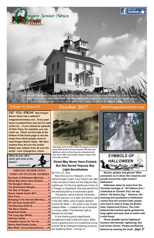 Oregon Senior News October 2017 E-edition