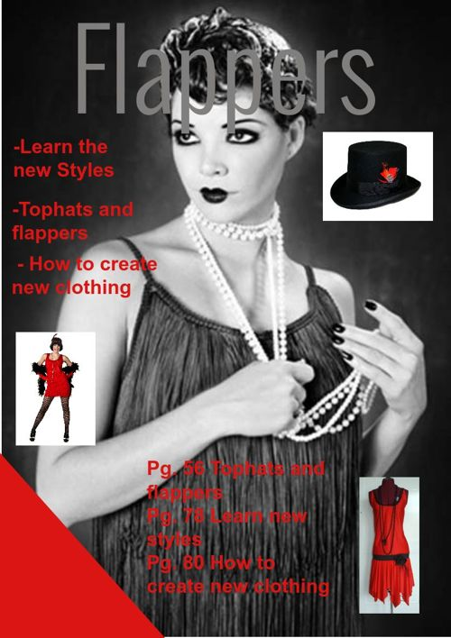 Flappers magazine article and cover page