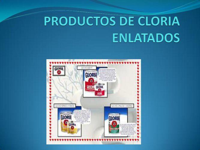 REVISTA DE PRODUCTOS DE GLORIA EN LINEA