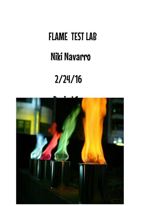 Flame test lab