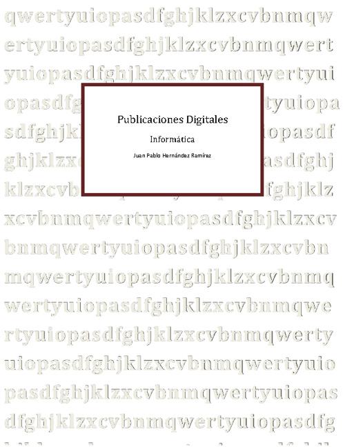 Publicaciones en PSD
