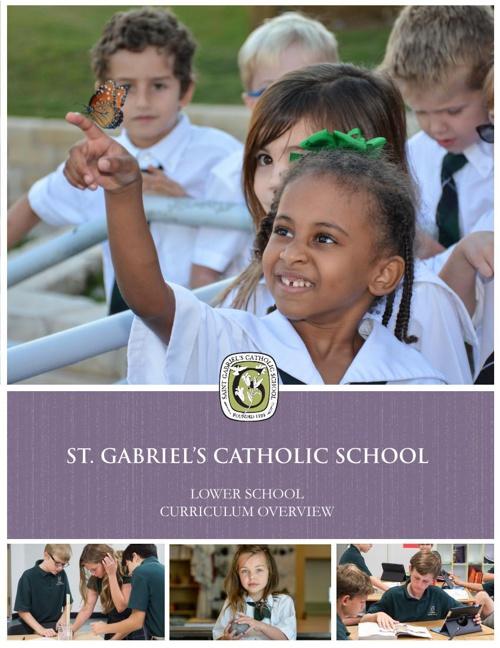 St. Gabriel's Lower School Curriculum