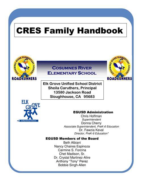 CRES Family Handbook, 2017-18