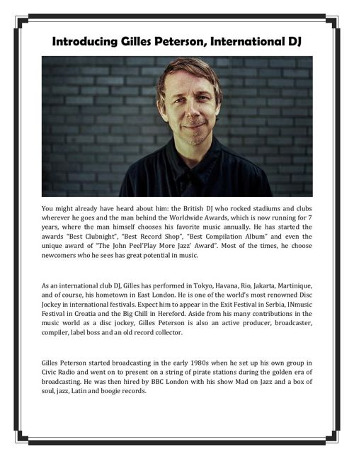 Introducing Gilles Peterson, International DJ