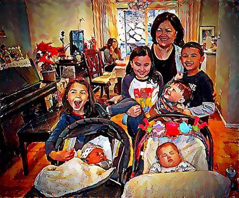 Lola with grandkids 2:16
