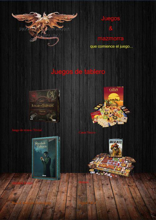 Catalogo de Juegos & Mazmorra (proyecto de instituto)