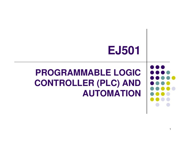 PLC And Automation EJ5