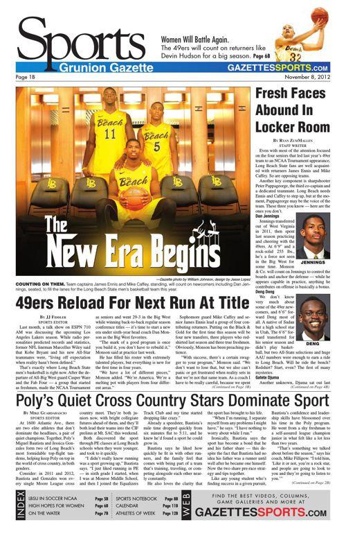 Gazette Sports   November 8, 2012