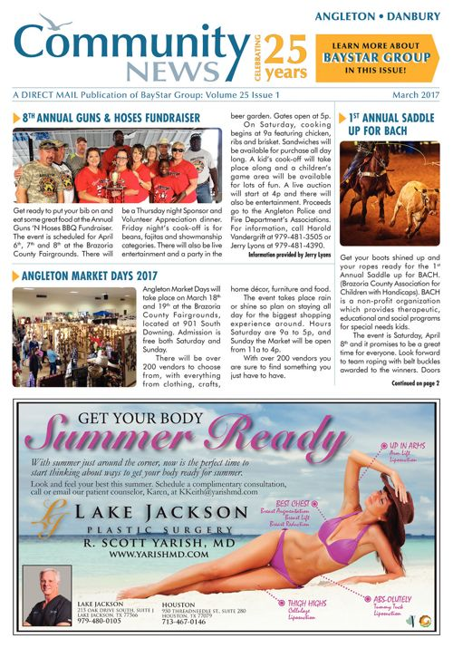 Angleton-Danbury Community News Volume 25 Issue 1