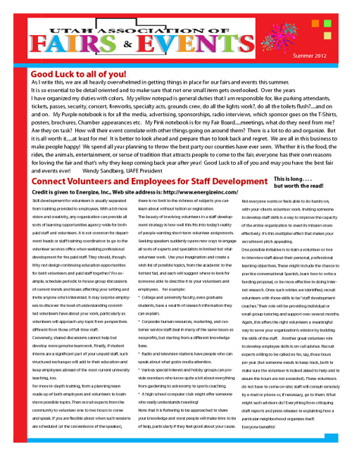 Summer 2012 UAFE Newsletter