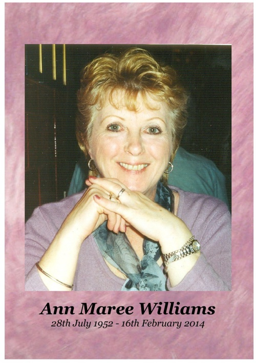4 Order of Service for Ann Maree Williams