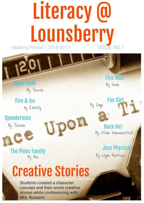 Literacy @ Lounsberry - Creative Stories
