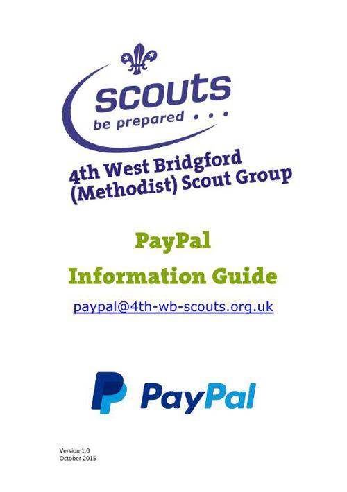 Group PayPal Information Booklet