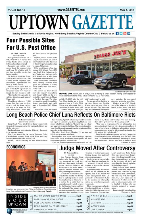 Uptown Gazette  |  May 1, 2015