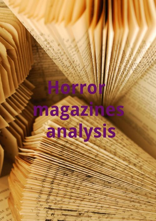 Horror magazines analysis