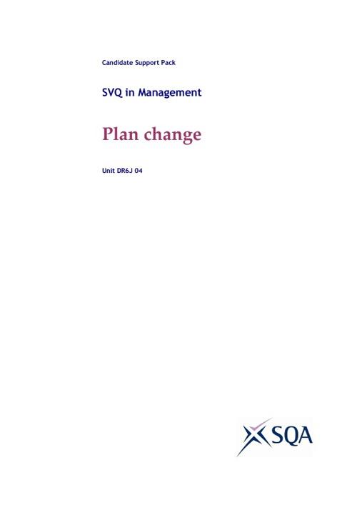 Plan change