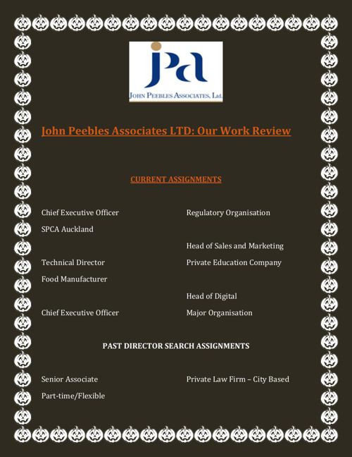 John Peebles Associates LTD Our Work Review