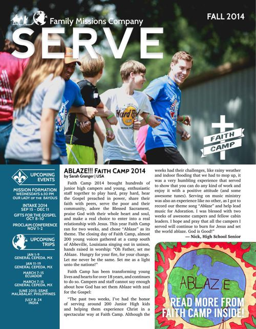 SERVE Newsletter | Fall 2014