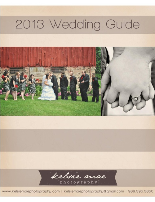 2013 Wedding Guide - Kelsie Mae Photography