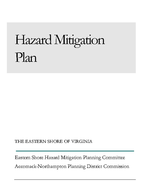 2011 ESVA Hazard Mitigation Plan