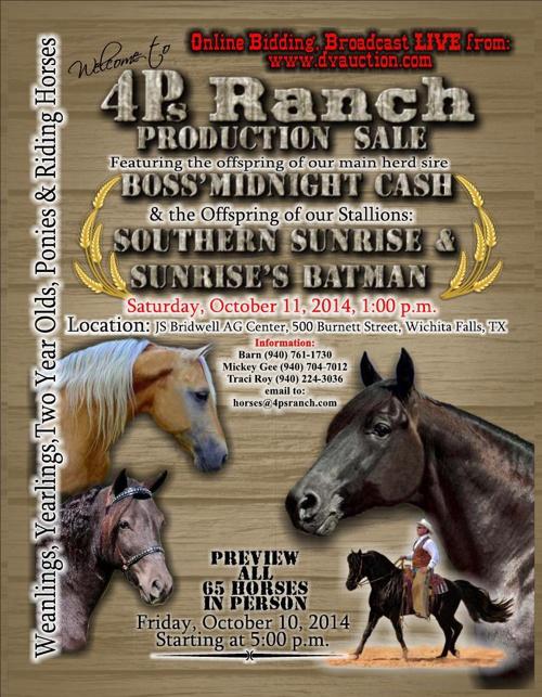 2014 4Ps Ranch Production Sale Catalog