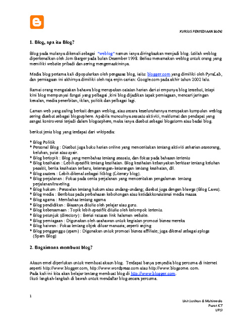 Kursus Blog
