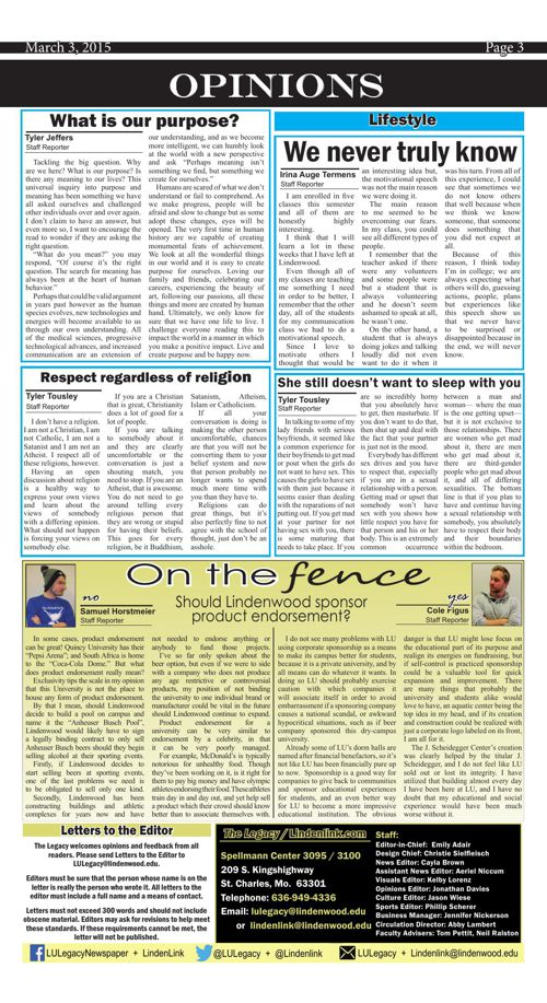 The Legacy-- March 3 issue