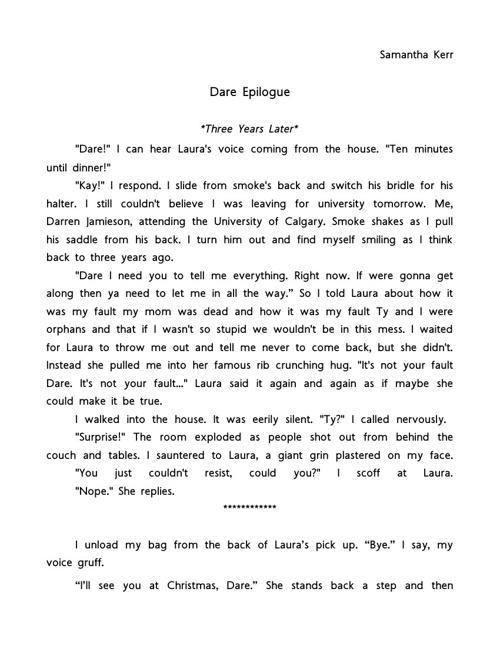 Dare Epilogue