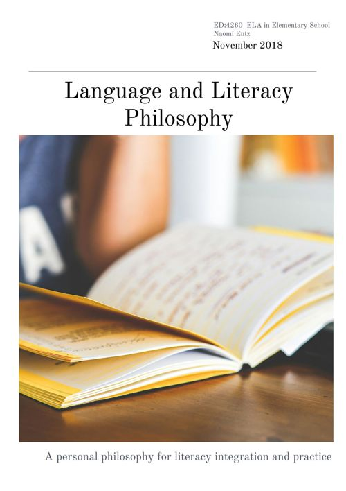 Language and Literacy Philosophy