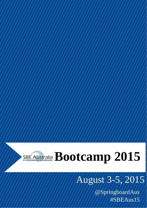 2015 Springboard Australia Bootcamp Binder