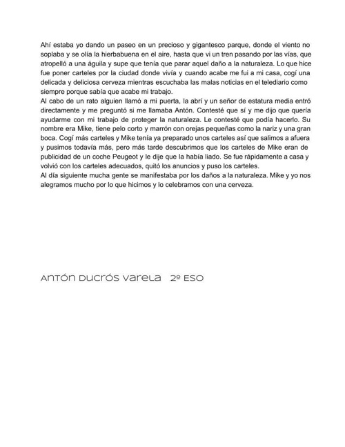 Relato tren de Antón Ducrós