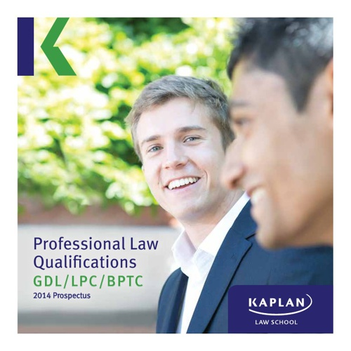 Kaplan Law School Prospectus 2014