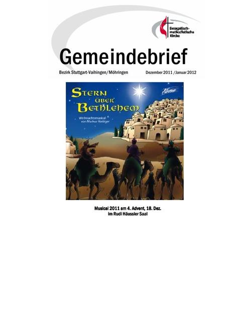 Gemeindebriefe 2012