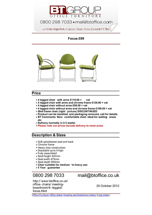 Meeting & Boardroom Seating (Products 51-100)