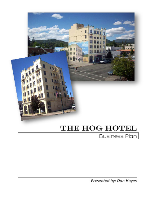 The Hog Hotel Business Plan