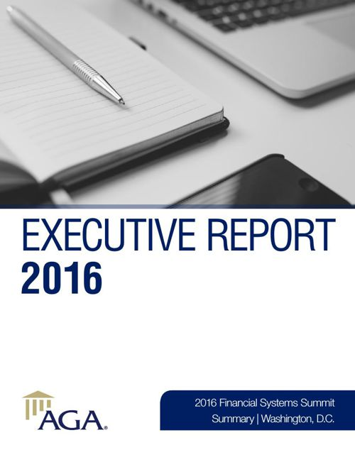 Executive Report 2016 — Financial Systems Summit