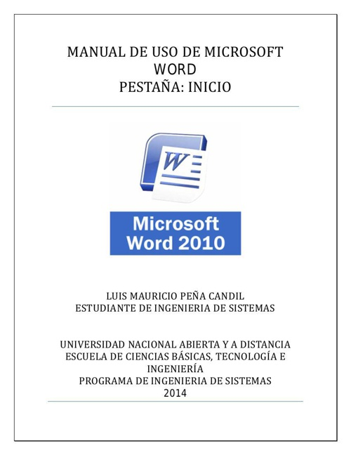 Manual Word-inicio
