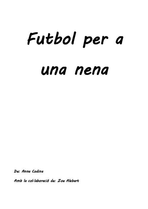 Futbol per a una nena