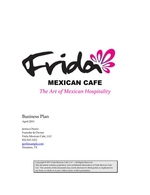 Frida Business Plan